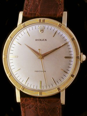 Rolex Precision Solid Gold Dress Vintage Watch