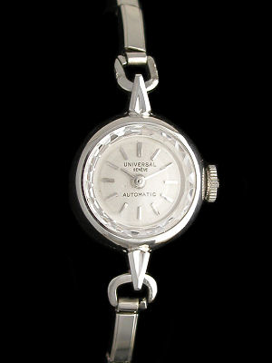 Universal Geneve Ladies Automatic Box Like New with Box and Papers LNIB
