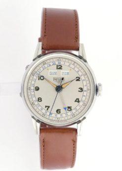 Vintage Heuer Triple Date Watch