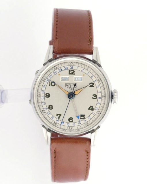 Vintage Heuer Triple Date Watch