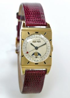 LeCoultre Triple Date Rectangle Vintage Moonphase Watch