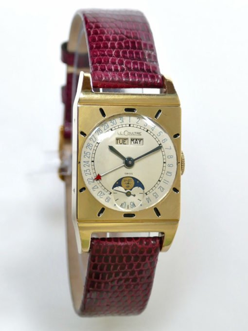 LeCoultre Triple Date Rectangle Vintage Moonphase Watch