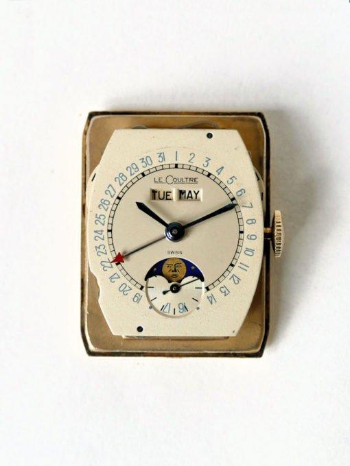 Vintage LeCoultre Rectangle Moonphase Mint Original Dial