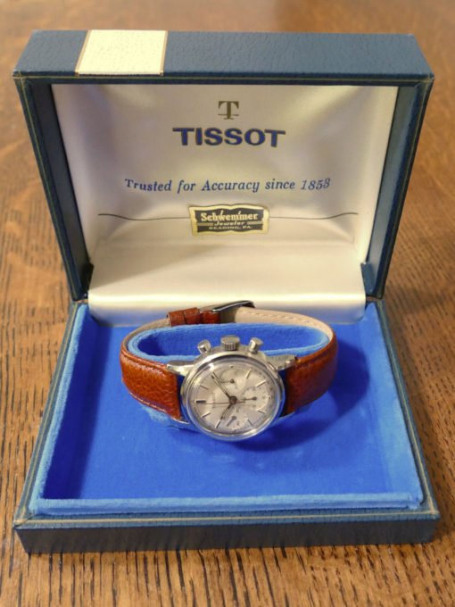 LNIB Tissot Vintage Chronograph from 1968. All Original with Boxes and Papers.