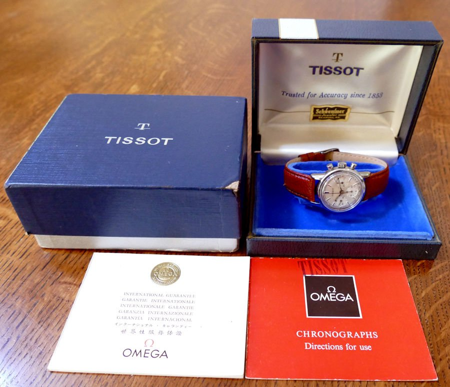 1968 Vintage Tissot Chronograph Watch with Boxes and Papers LNIB