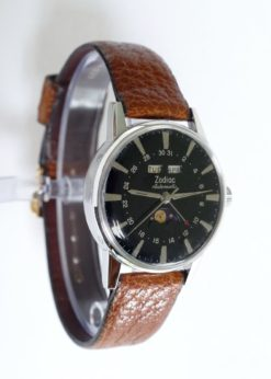 Zodiac Triple Date Automatic Moonphase Vintage Watch