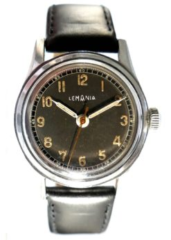 Lemania Military Watch in Steel with S27 Movement