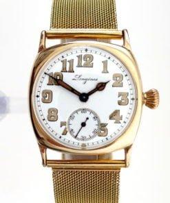 Longines Circa 1917 14K Gold Trench Watch