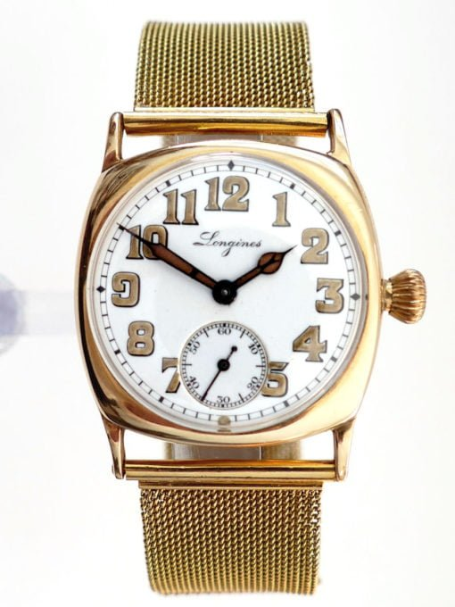 Longines Circa 1917 14K Gold Trench Watch