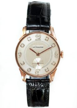 LeCoultre Rose Gold Diamond Men's Dress Watch