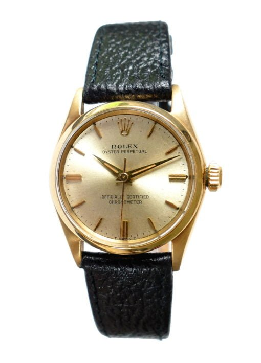 Rolex 6548 6551 14K Gold Watch