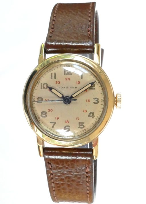 Longines Solid Gold Vintage Military Watch