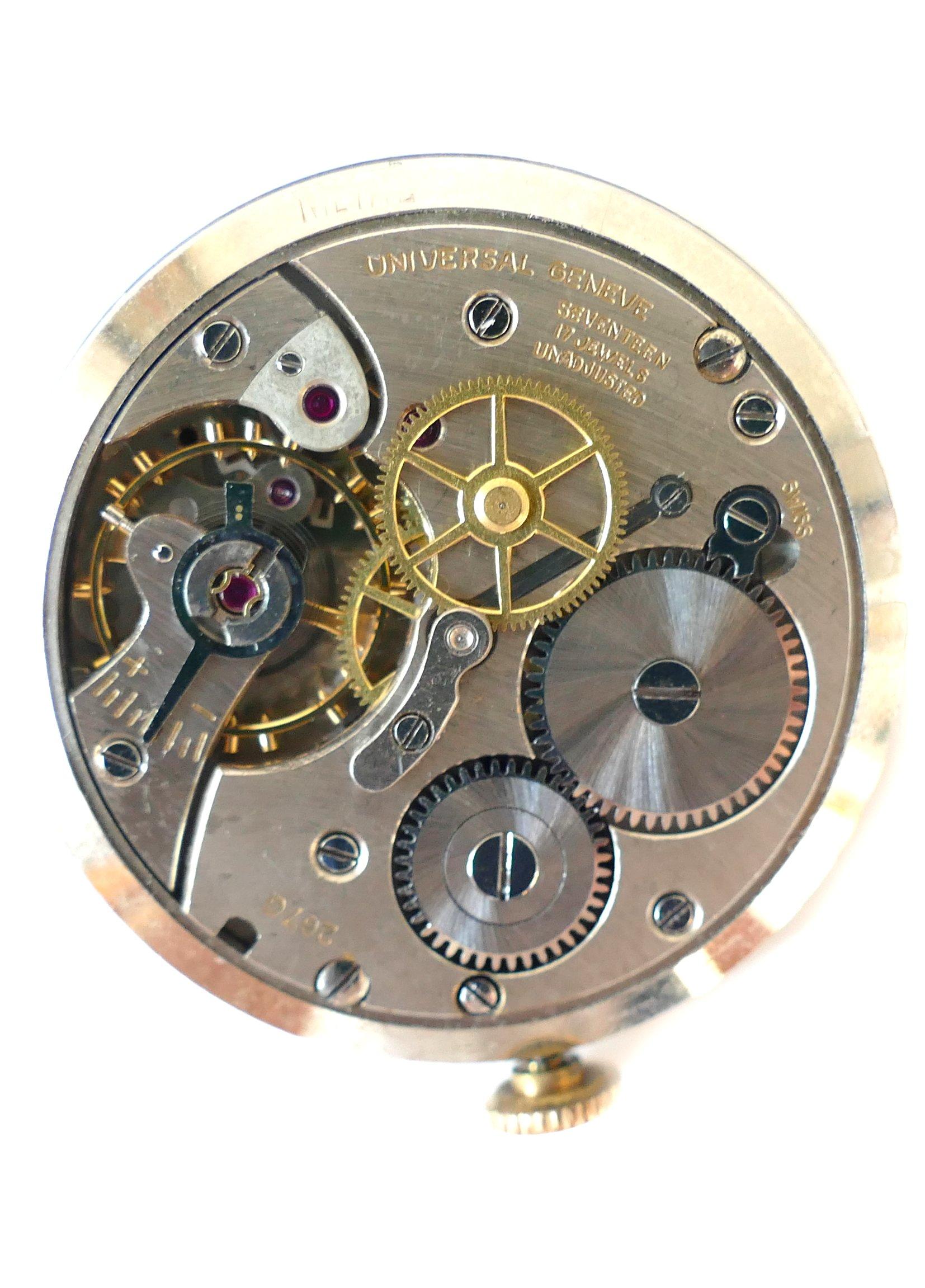 Golden Universal Tarot Reading: Universal Geneve Solid Gold Dress Vintage Watch