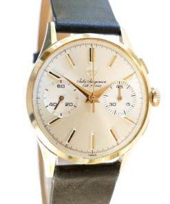 Vintage Jules Jurgensen Solid Gold Dress Chronograph