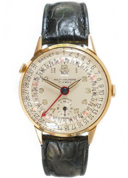 Brevet Multi-Calendar Triple Date Vintage Watch