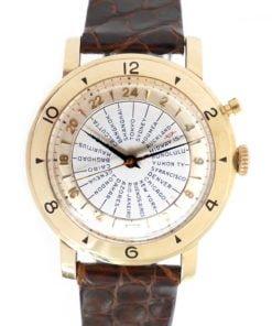 Tissot Navigator Vintage World Time Watch in 14K Solid Gold