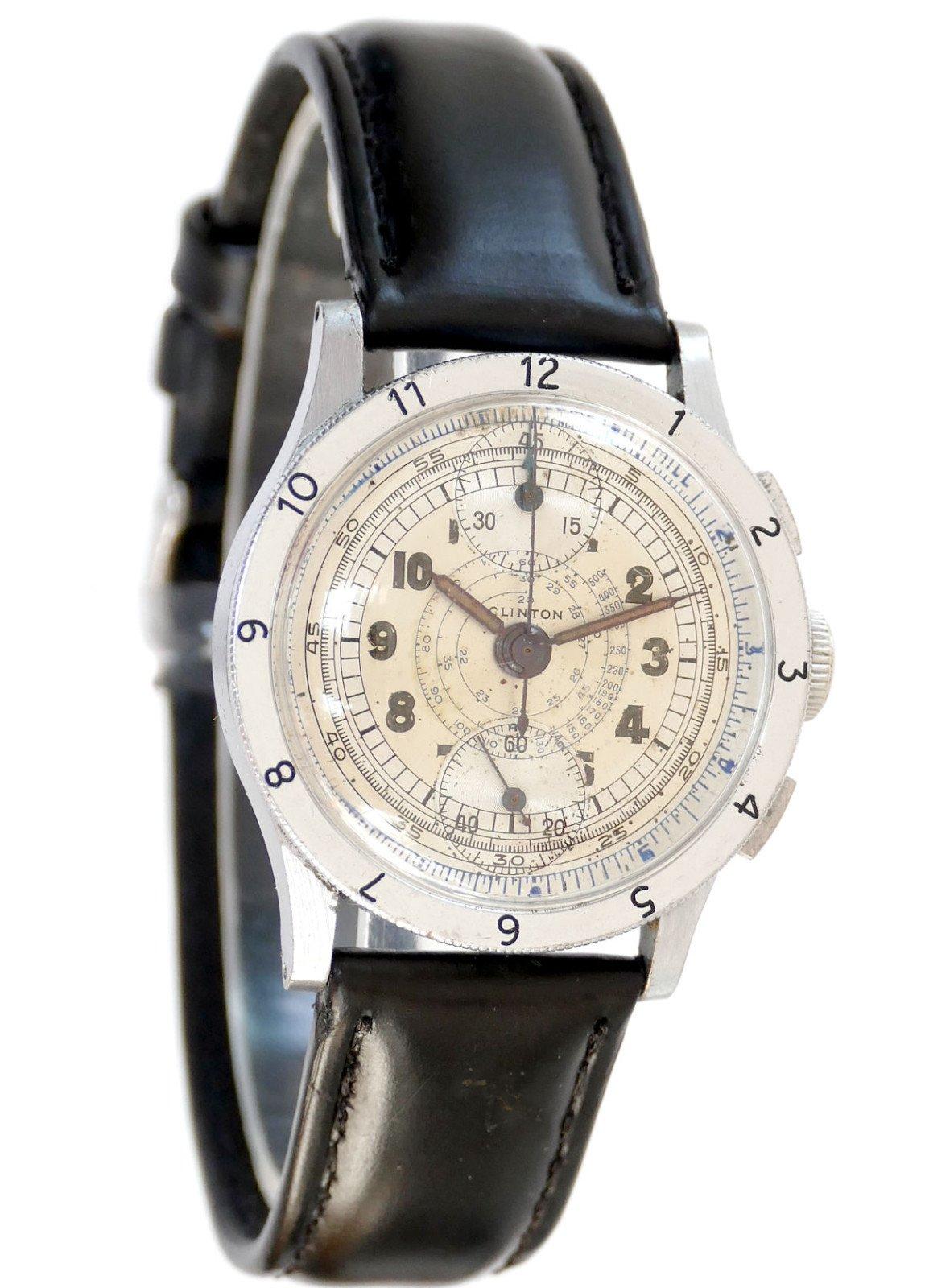 Clinton Vintage Chronograph Watch