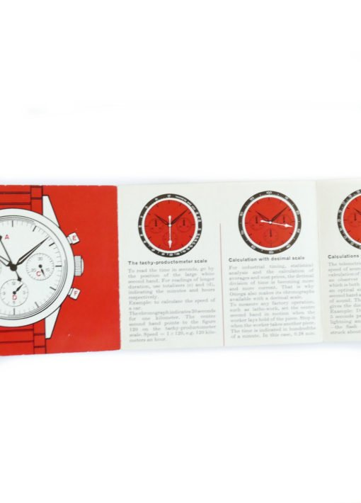 Tissot Omega Vintage Chronograph Instruction Booklet