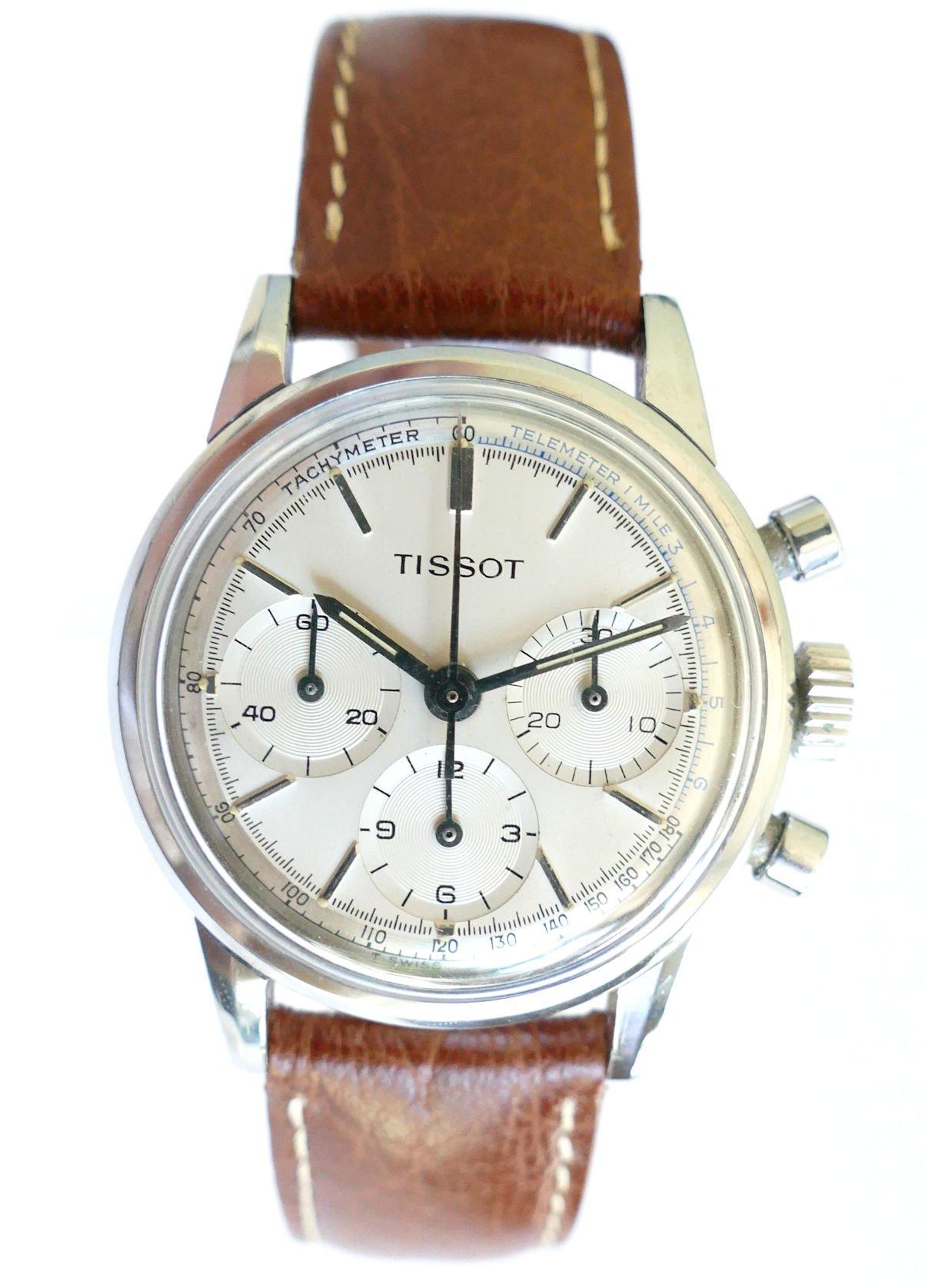 Tissot 808A 64 3205 Full Set Vintage Chronograph