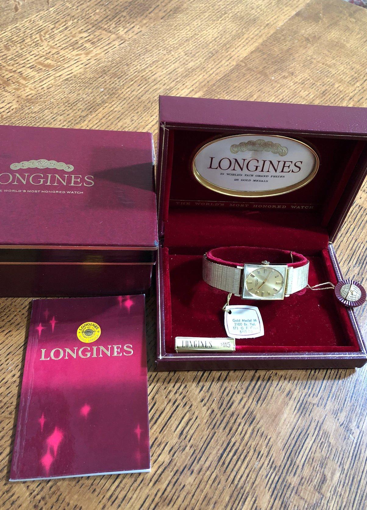 Longines 1970 Lnib Nos Gold Medal Men S Dress Watch