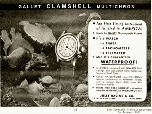 Gallet Clamshell Advertisment Multichron 30
