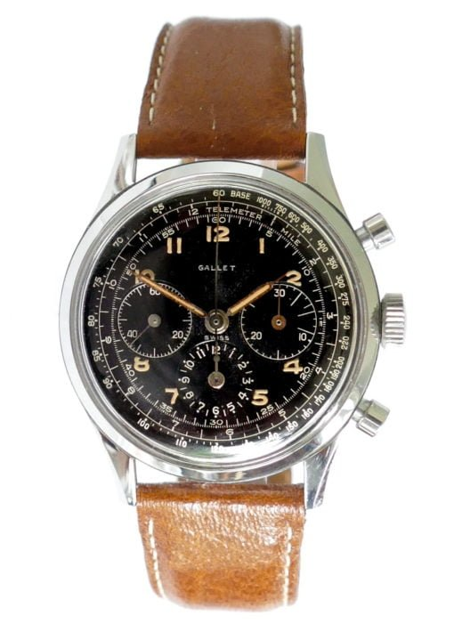 Gallet Multichron 12 Jim Clark EP40 Vintage Chronograph Watch