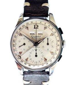 Charles Gigandet Wakmann 2995-2002 Valjlux 72c Vintage Chronograph Watch