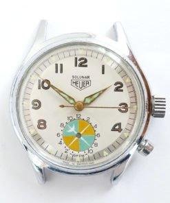 Rare Heuer Solunar Vintage Watch