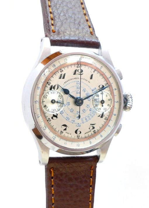 Abercrombie & Fitch Vintage Chronograph Watch with Angelus Movement