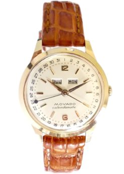 Movado Calendomatic 18K Mint Vintage Watch