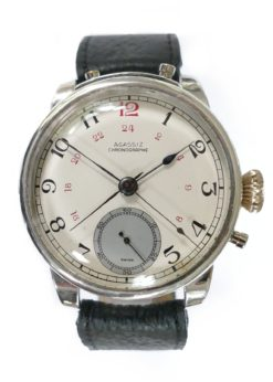 Agassiz Sterling Silver Split Second Rattrapante Chronograph