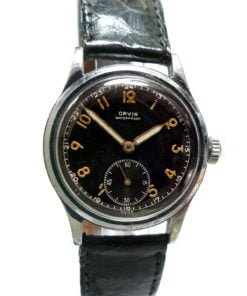 Orvin Gilt Radium Dial Military Watch