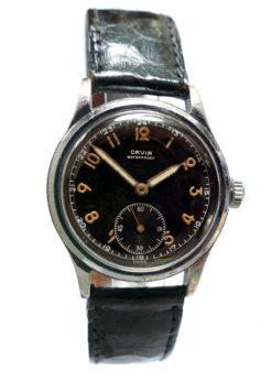Orvin Gilt Radium Dial Military Watch
