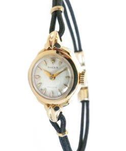 Rolex Precision Ladies Solid Gold Watch