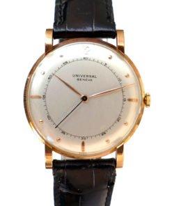 Universal Geneve 107161 18K Rose Pink Gold Men's Vintage Dress Watch