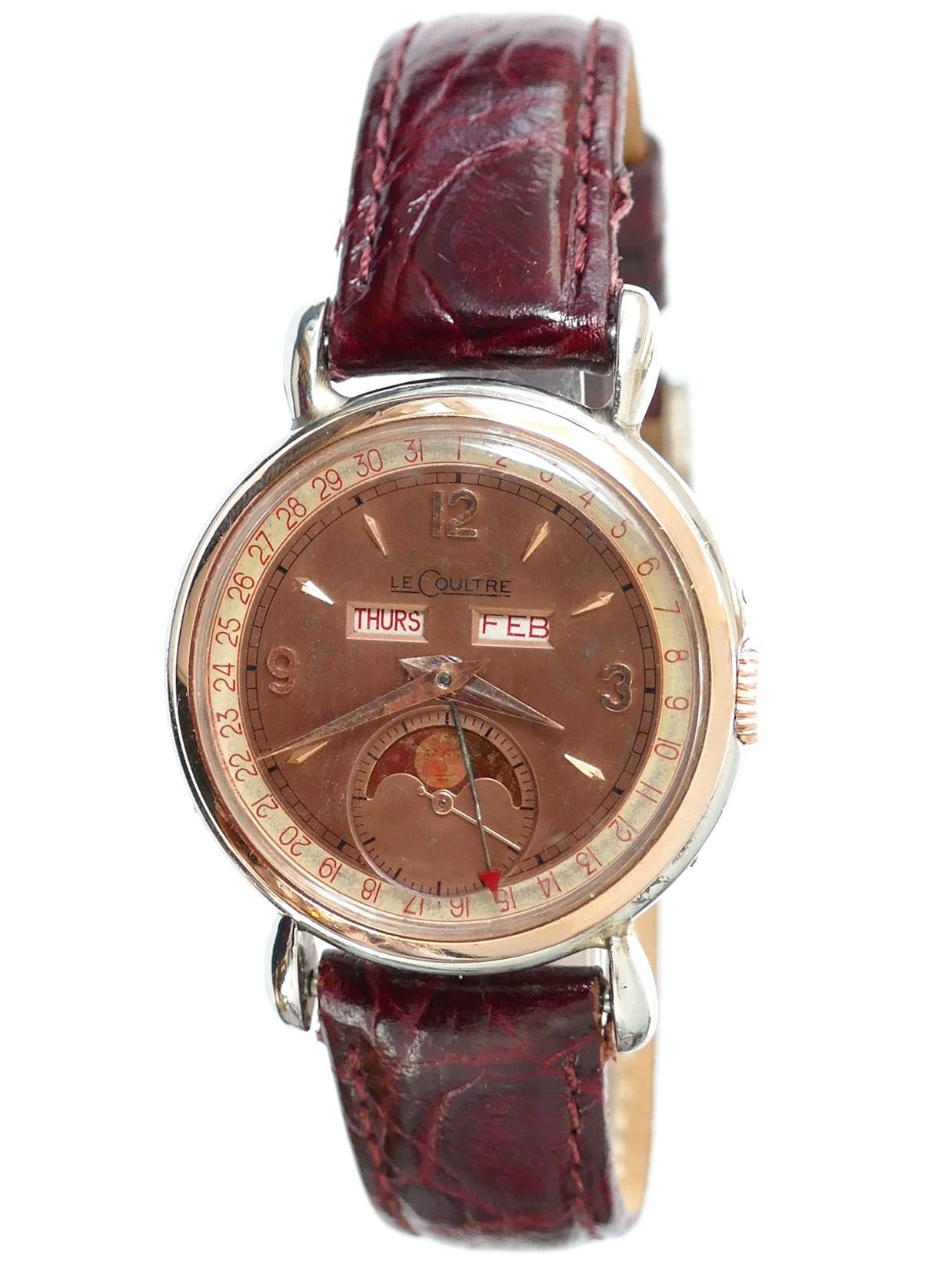 Jaeger-LeCoultre Moonphase Triple Date Vintage Watch