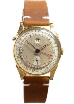 Liban Triple Date Rotating Dial Vintage Watch Brevet