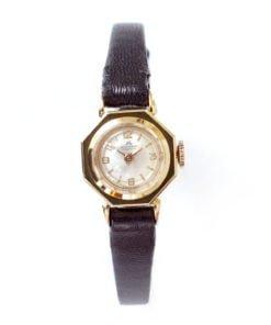Bucherer Vintage Ladies Solid Gold Dress Watch