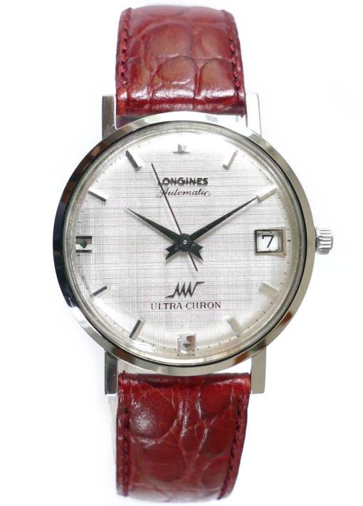 Longines Ultra-Chron Linen Dial Automatic Vintage Men's Watch 2925-431