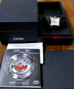 Oris Rectangular Complication Automatic Silver Dial Men's Watch 582-7694 Full Set