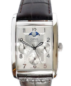 Oris Rectangular Complication Automatic Silver Dial Men's Watch 582-7694