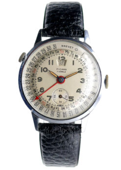 Picard Brevet Triple Date Vintage Watch