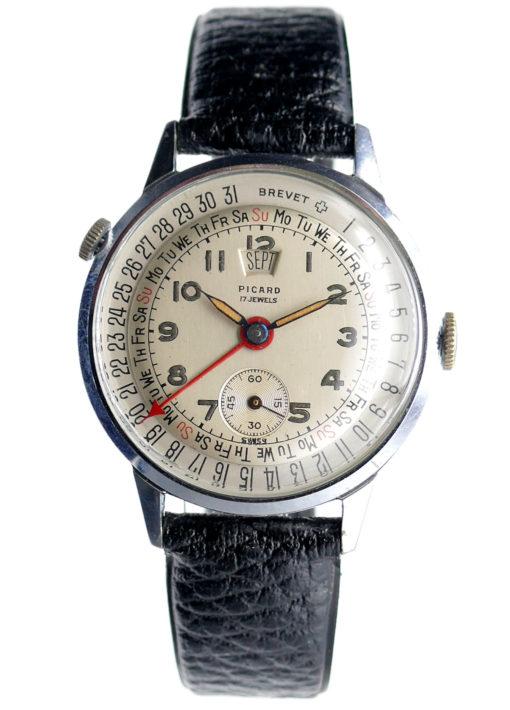 Picard Brevet Triple Date Vintage Watch