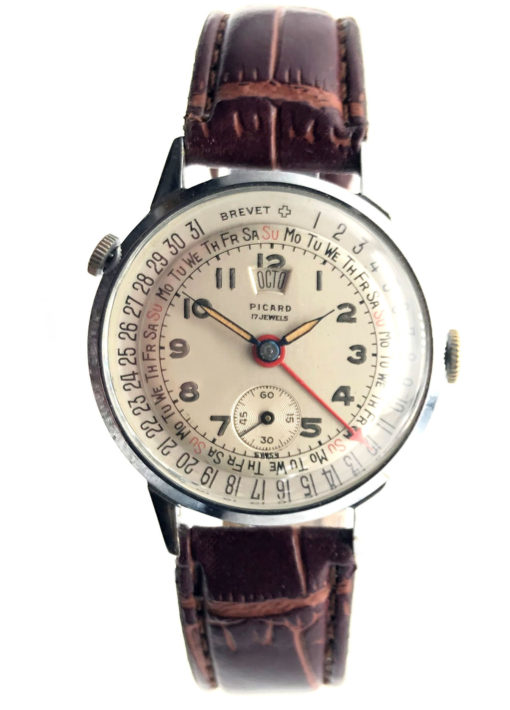 Brevet Calendar Watch Triple Date