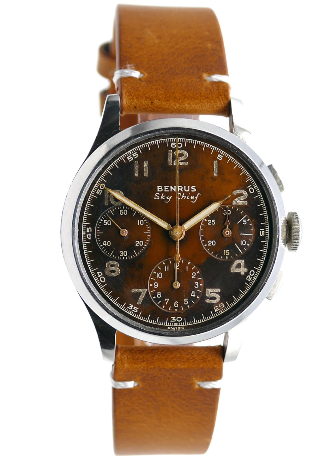 Benrus Sky Chief Tropical Dial Vintage Chronograph