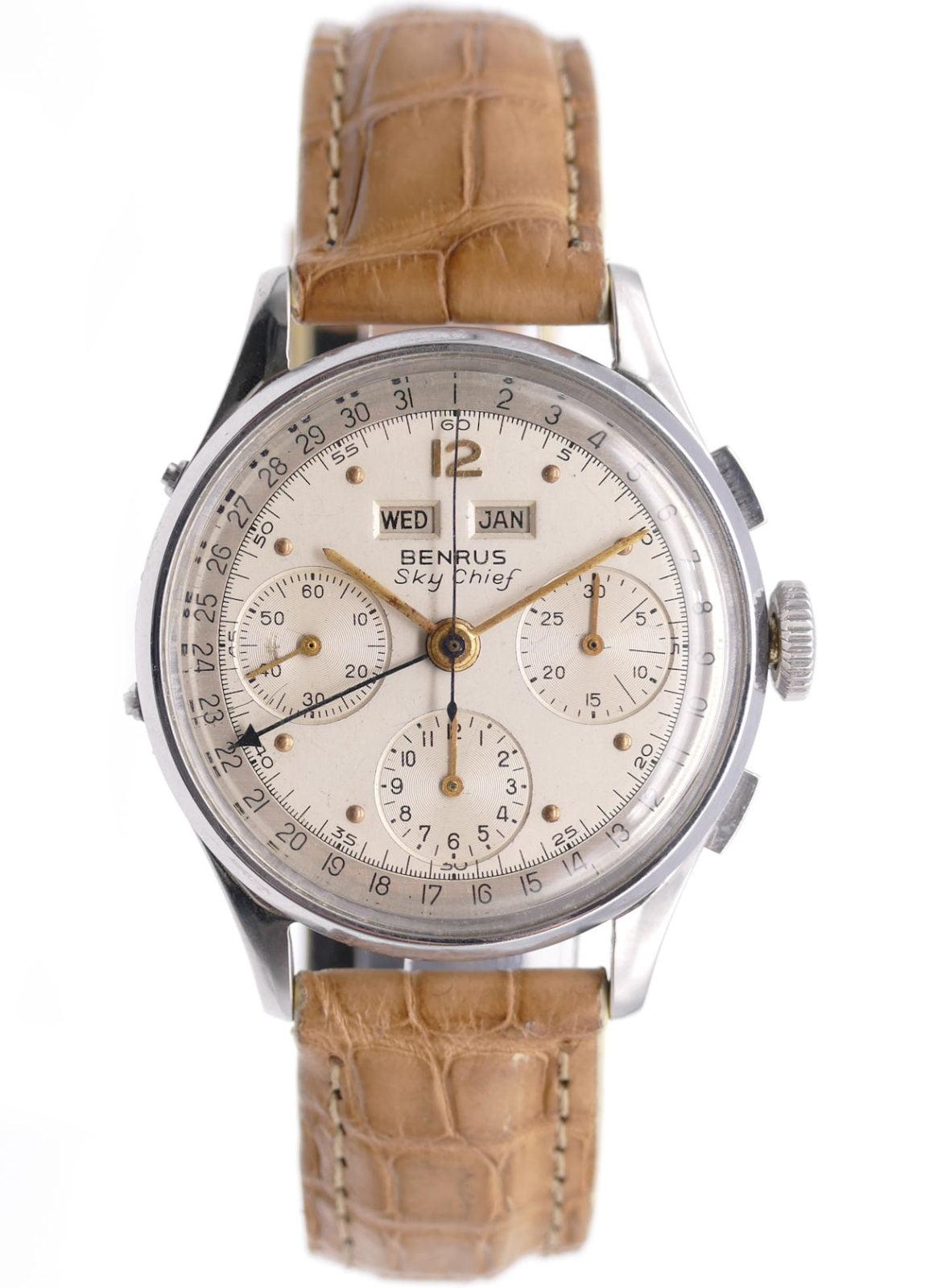 Benrus Sky Chief Triple Date Valjoux 72c G280F Chronograph