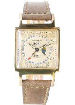 Movado 18K Ermeto Moonphase Wristwatch