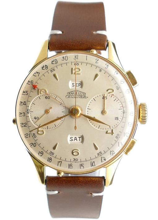 Angelus Chronodato Vintage Chronograph Watch