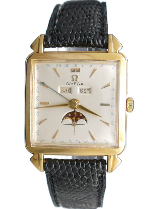 Omega 3944 Cosmic Moonphase in 18K Solid Gold