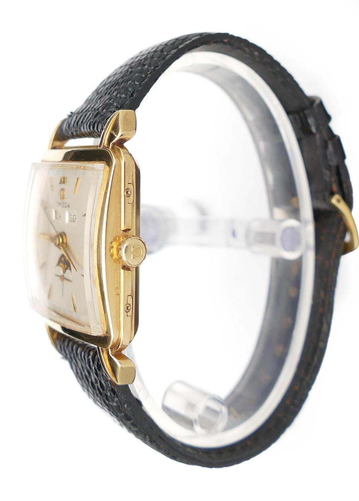 Omega Cosmic Moonphase 3944 Solid 18K Gold Watch - Farfo.com